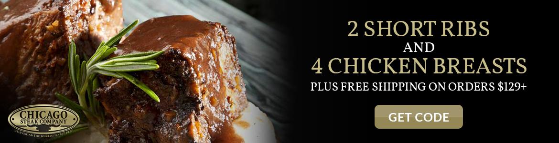 Chicago Steak Company 2 Short Ribs & 4 Chicken Breasts