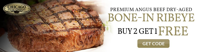 Chicago Steak Company Bone IN Ribeye