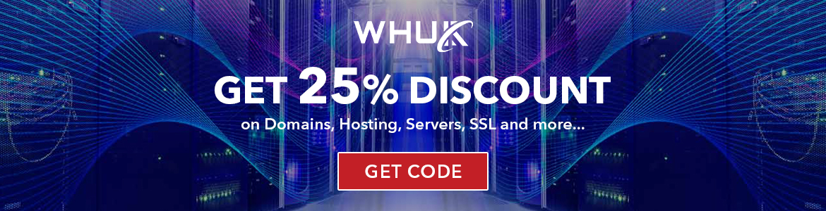 25% Discount on Domain, Hosting, Servers