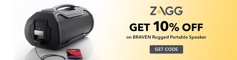 Zagg Get 10% Off on Braven Rugged Portable Speaker