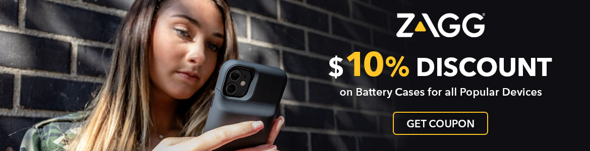 Zagg 10% Discount on Battery Cases for all Popular Devices