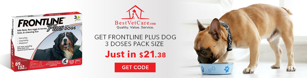 Get Frontline Plus Dog 3 Doses Pack Size Just In $21.38 Shop Now